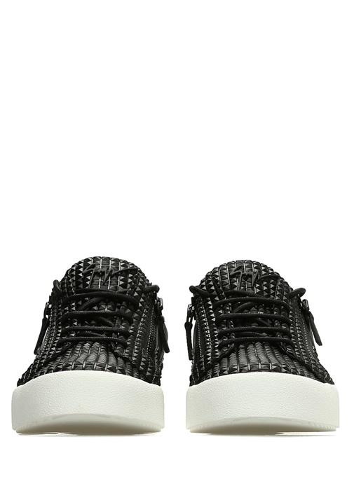 Frankie Siyah Dokulu Erkek Deri Sneaker