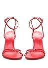 Kırmızı Kadın Deri Sandalet