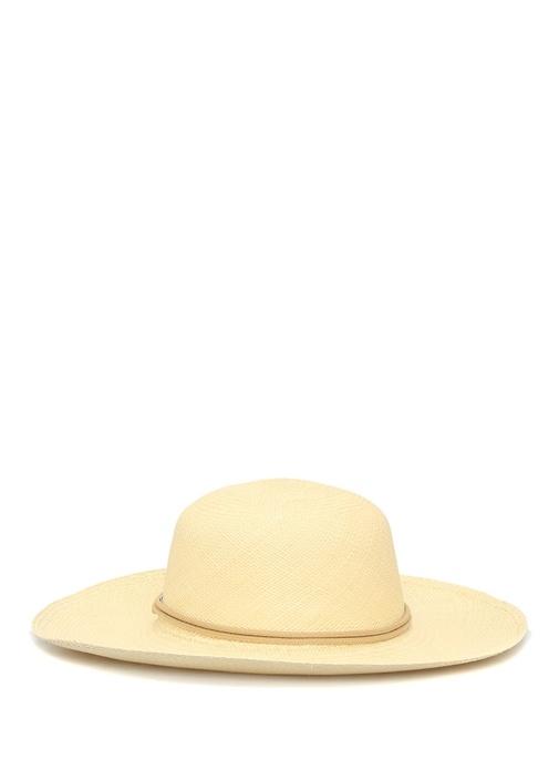 Lady Traveller Bej Kadın Hasır Şapka