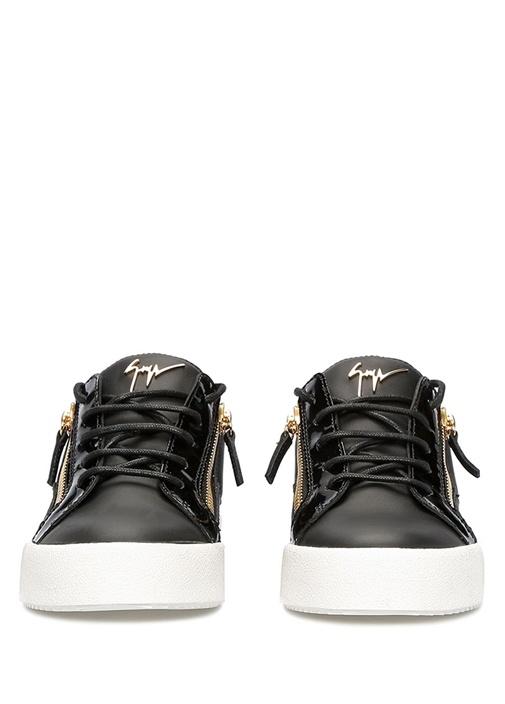 Niki Siyah Logolu Kadın Deri Sneaker