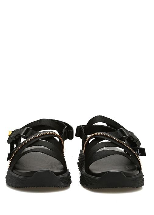 Urchin Siyah Çapraz Bantlı Kadın Sandalet
