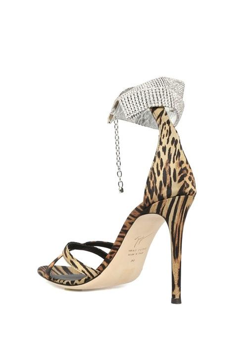Basic 105 Leoparlı Taş Detaylı Gece Ayakkabısı