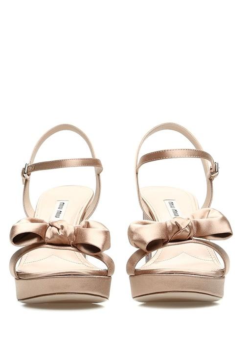 Rosa Pudra Topuk Detaylı Kadın Saten Sandalet