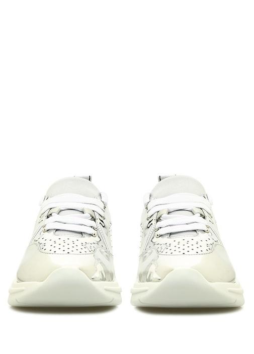 Silver Delik Detaylı Logolu Kadın Sneaker