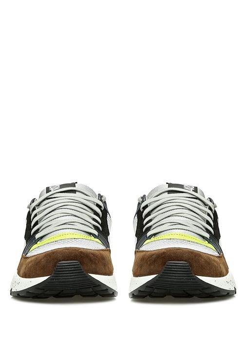 A8 Alex Kahverengi Garnili Kadın Deri Sneaker