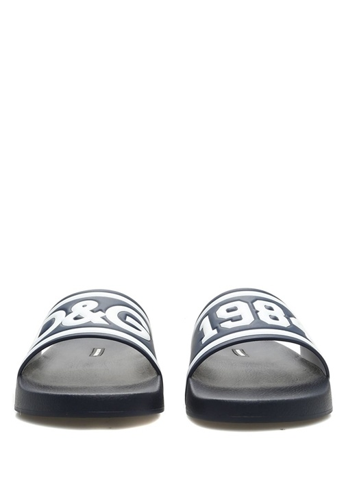 Lacivert Logo Kabartmalı Erkek Terlik