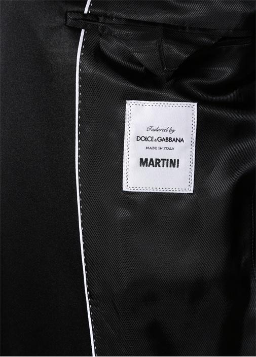 Martini Siyah Kırlangıç Yaka Yelekli Yün Takım