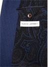 Lacivert Kelebek Yaka Patchworklu Jersey Ceket