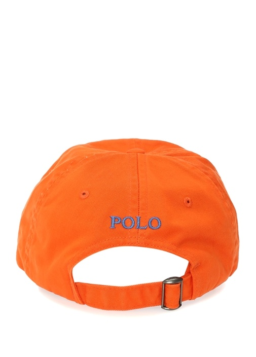Turuncu Logo Nakışlı Erkek Şapka