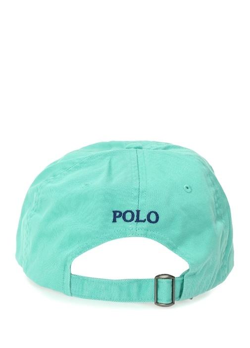 Beyaz Logo Nakışlı Erkek Şapka