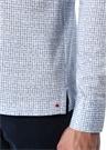 Mavi Beyaz İngiliz Yaka Kareli Sweatshirt