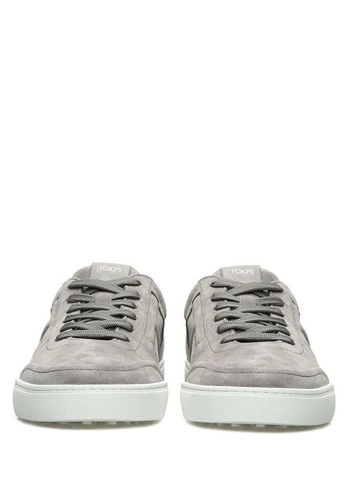Gri Logolu Erkek Süet Sneaker