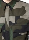 Haki Kamuflaj Desenli İngiliz Yaka Gömlek