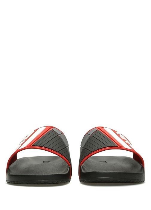 Kırmızı Siyah Logolu Erkek Terlik