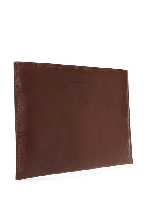 Kahverengi Dokulu Logolu Erkek Deri El Portföyü