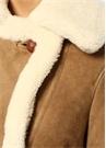 Farley Kahverengi Ekru Shearling Deri Ceket