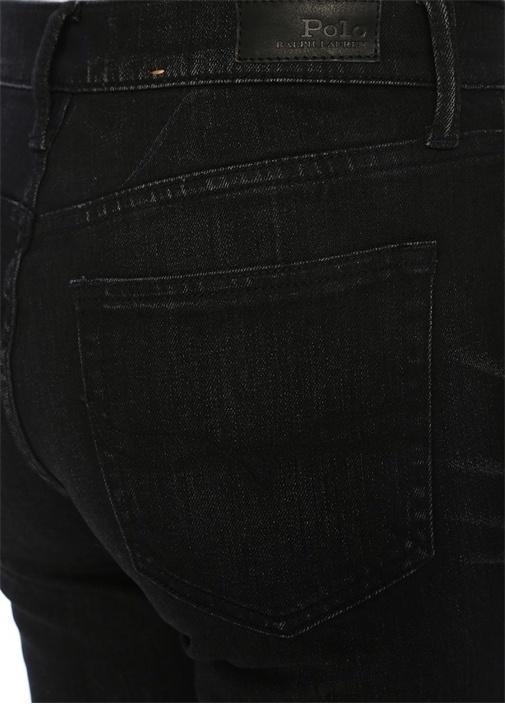 Chrystie Siyah Kick Flare Crop Jean Pantolon