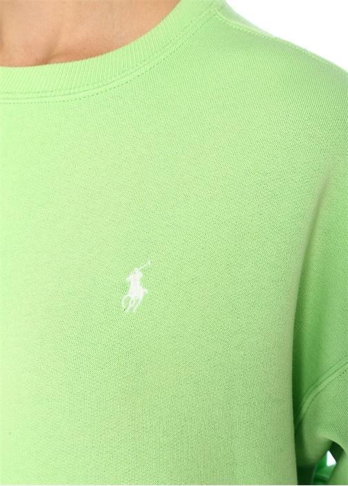Relaxed Fit Yeşil Patch Detaylı Sweatshirt