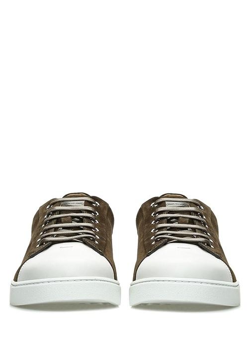 Haki Beyaz Süet Erkek Sneaker