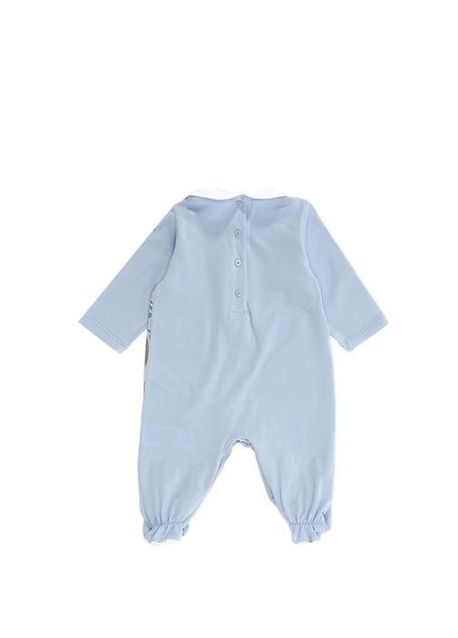 Mavi Bebe Yaka Bebek Tulum