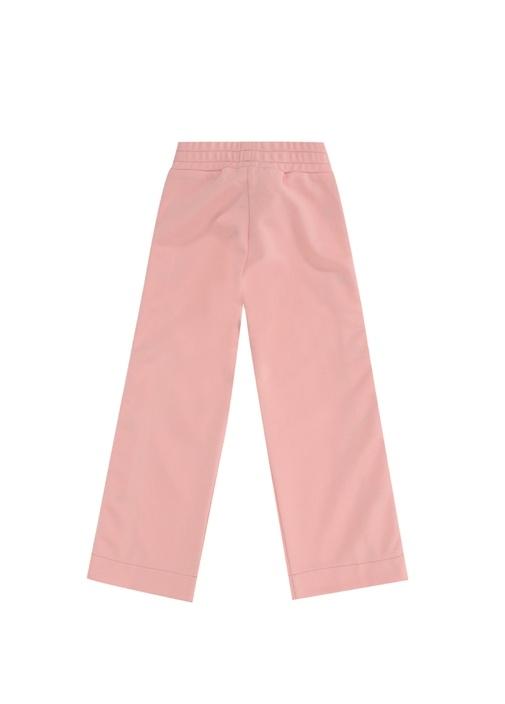 Pembe Logo Şeritli Kız Çocuk Pantolon