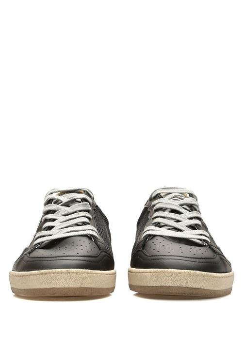 Ball Star Siyah Dokulu Erkek Deri Sneaker