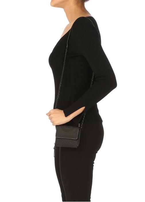 Fleming Mini Mat Siyah Kadın Omuz Çantası