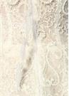 Beyaz Straplez İşlemeli Tüylü Mini Abiye Elbise