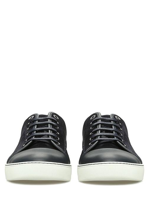 Lacivert Garni Detaylı Erkek Deri Sneaker