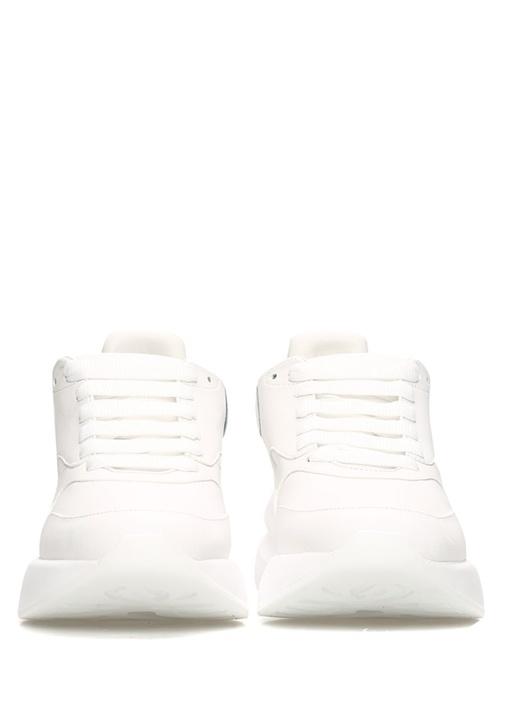 Oversize Beyaz Kadın Deri Sneaker
