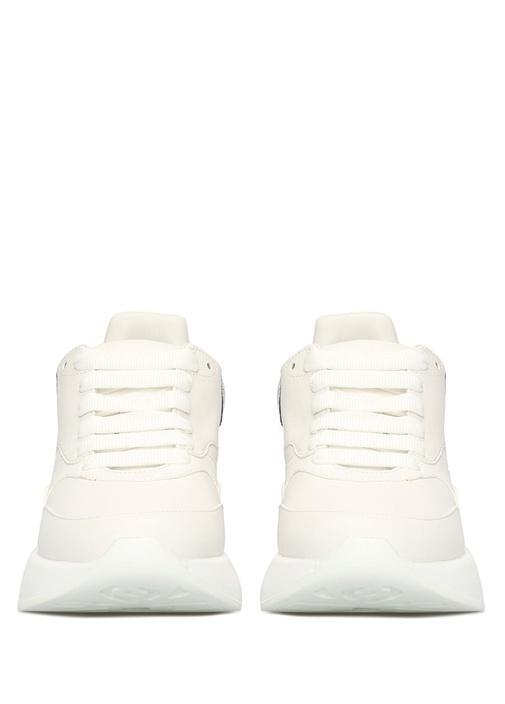 Oversize Beyaz Silver Kadın Deri Sneaker