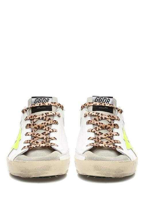 Superstar Beyaz Logolu Kadın Deri Sneaker