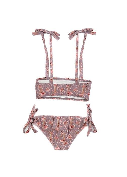 Juniper Şal Desenli Çocuk Bikini Takımı