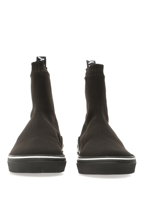 George Siyah Çorap Formlu Dokulu Erkek Sneaker
