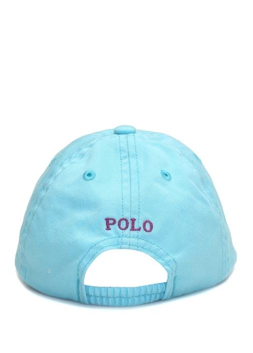Mavi Logo Nakışlı Erkek Bebek Şapka