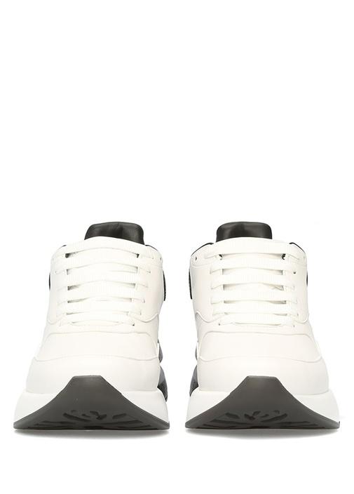 Oversize Siyah Beyaz Erkek Deri Sneaker