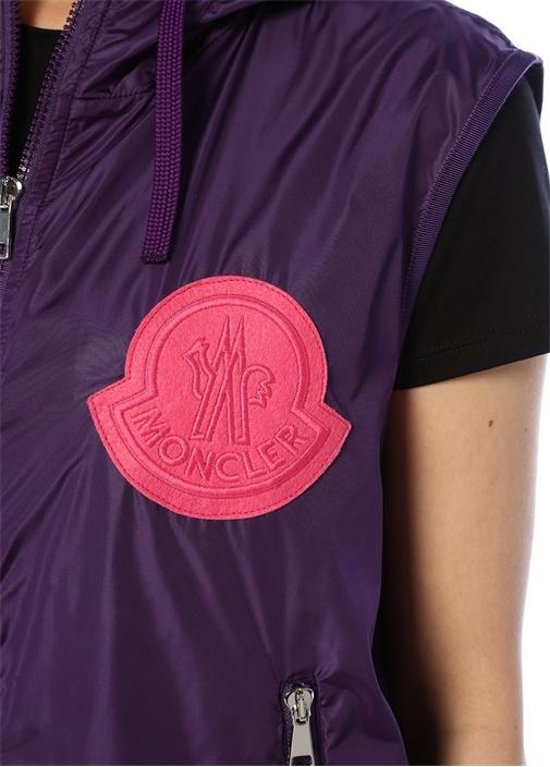 Mexico Mor Kapüşonlu Logo Patch DetaylıYelek