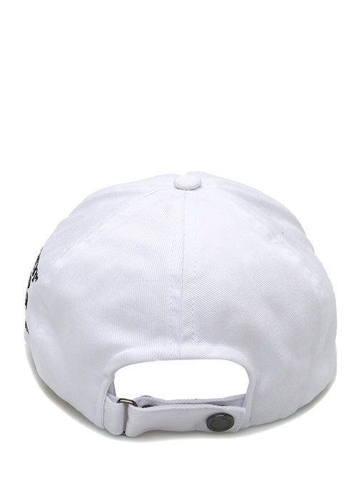 Beyaz Nakış Detaylı Kadın Şapka