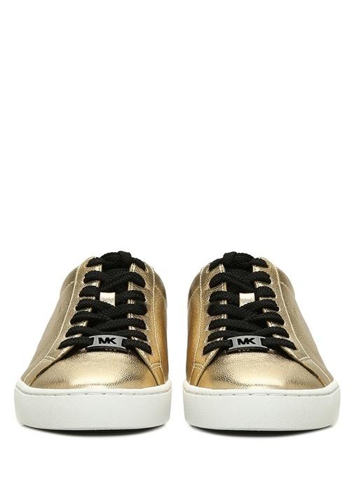 Irving Gold Siyah Sim Detaylı Kadın Deri Sneaker