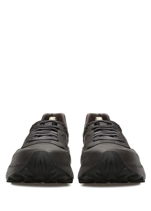 Sphyke Siyah Logolu Erkek Deri Sneaker