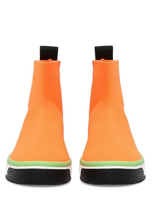 Dart Neon Turuncu Çorap Formlu Kadın Sneaker