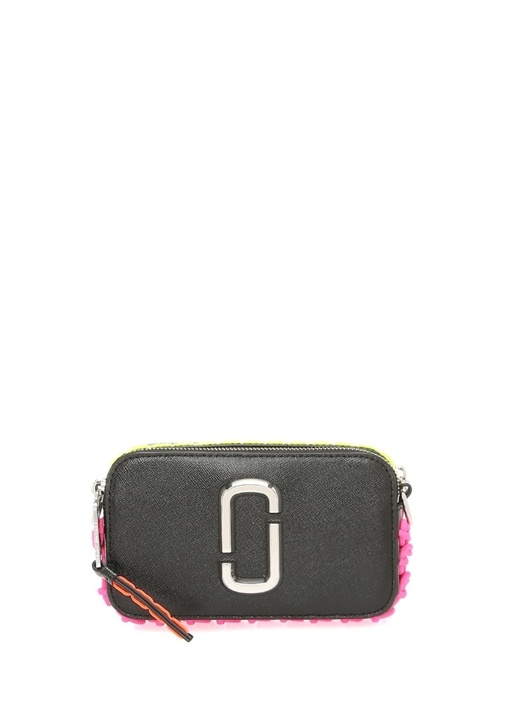 Snapshot Small Siyah Neon Dikişli KadınDeri Çanta