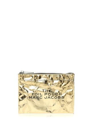 09fb5f114d36d Gold Yazı Baskılı Kadın Makyaj Çantası HIZLI BAK MARC JACOBS Gold Yazı  Baskılı Kadın Makyaj Çantası ...
