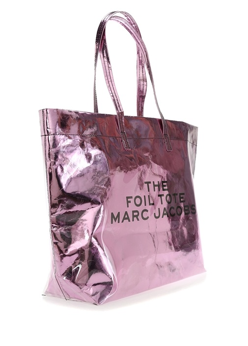 Mor Ayna Efektli Kadın Alışveriş Çantası