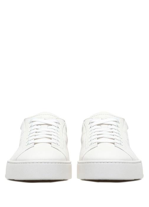 Beyaz Erkek Deri Sneaker