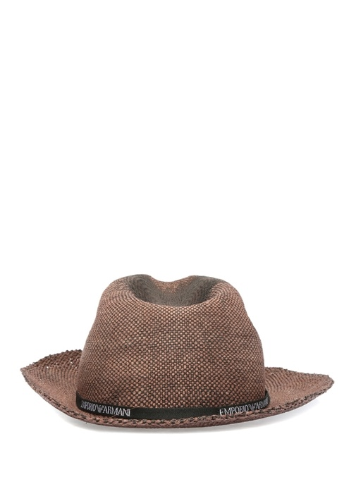 Kahverengi Logo Bantlı Erkek Şapka
