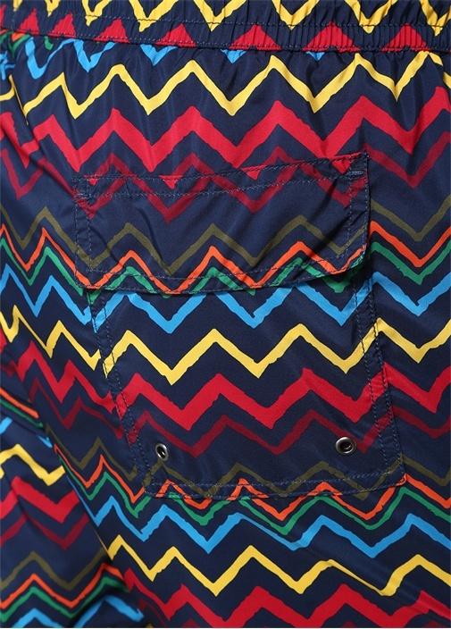 Colorblocked Zikzak Desenli Mayo