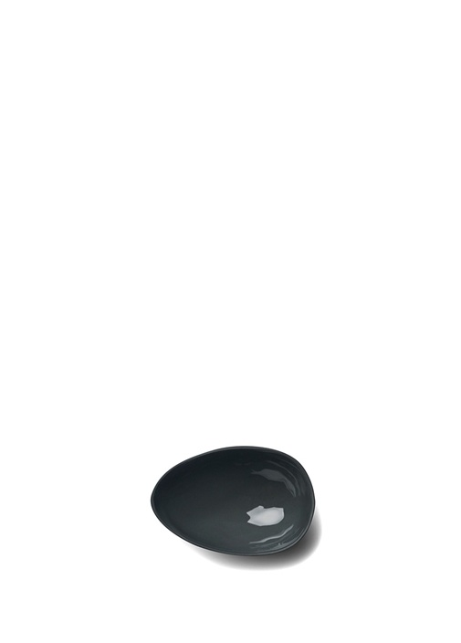 Siyah Yumurta El Yapımı Küçük Boy Porselen Kase