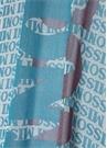 Mavi Sim Dokulu Logo Baskılı Kadın Şal