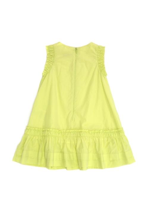 Abito Sarı Büzgü Detaylı Kız Çocuk Elbise